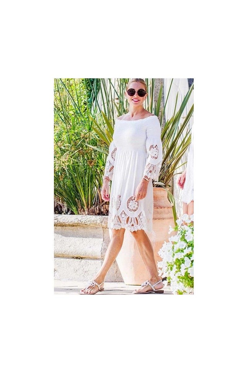 Embroidered fitted dress Antica Sartoria
