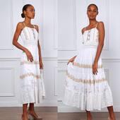 Vestido en blanco con bordados dorados. Todavía en stock. Disfrutad del buen tiempo los que lo tengáis.  • • • • • #bohochic #bohostyle #ibizastyle #bohofashion #bohemianstyle #vestidosblancos #shoponline #shoppingonline #mireiasdream #cottondress #longdress #vestidoslargos #peñiscola #peñiscola #castellón #fashion #vestidosbordados