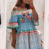 Las prendas de Mireia's Dream quedan así de bonitas. Para Mireia's Dream @juliamp.2   #bohofashionstyle #bohostyle #bohochic #bohemianstyle #mireiasdream #ibizastyle #summerdress #vestidosbonitos #peniscola #castellon #zaragoza #shoponline #shoppingonline #inlovewiththisdress #antica #anticasartoria #positanostyle #bohochicstyle