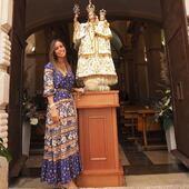 Preciosa foto que me manda @_mariamarieta_ al lado de nuestra Patrona la Virgen de Ermitana. Dos bellezas juntas. Encantada de que las dos estéis aquí entre mis posts. ¡¡Muchas gracias!! • • • • #fiestaspatronales2021 #peniscola #peñiscola #castellon #clientasguapas #mireiasdream #bohodress #vestidosbonitos #vestidoslargos #bohostyle #bohemianstyle #bohochicstyle #ss2021 #shoponline #fashion #love #bohochic